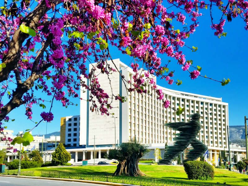Το Hilton στην Αθήνα την Άνοιξη