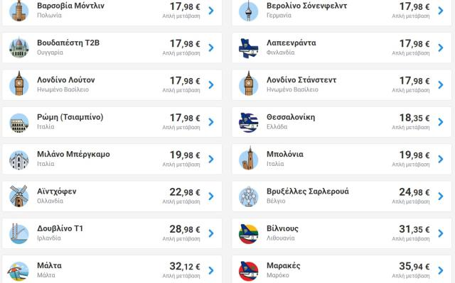 Ryanair προσφορά! 250.000 θέσεις από 12,99€!