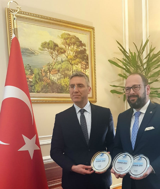 Burak Özügergin Turkish Ambassador Alp Yavuzeser General Manager Turkish Airlines