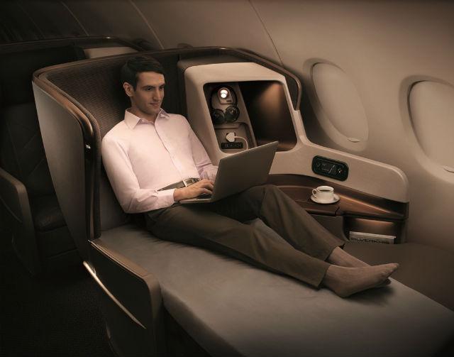 Singapore Airlines καμπίνα