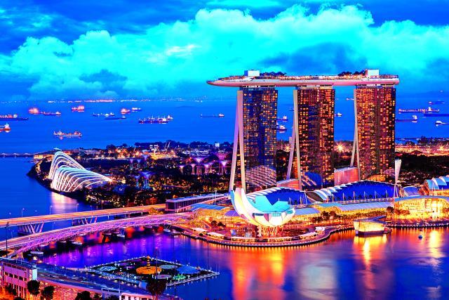 Με θέα την πόλη της Σιγκαπούρης