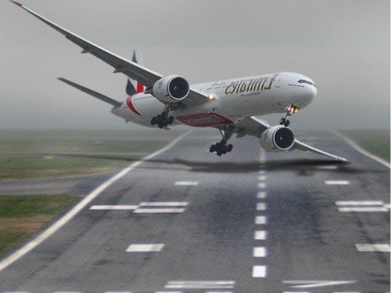 crosswind προσγείωση βίντεο
