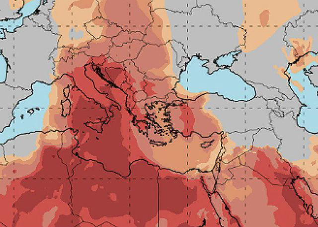 Χάρτης μεταφοράς σκόνης