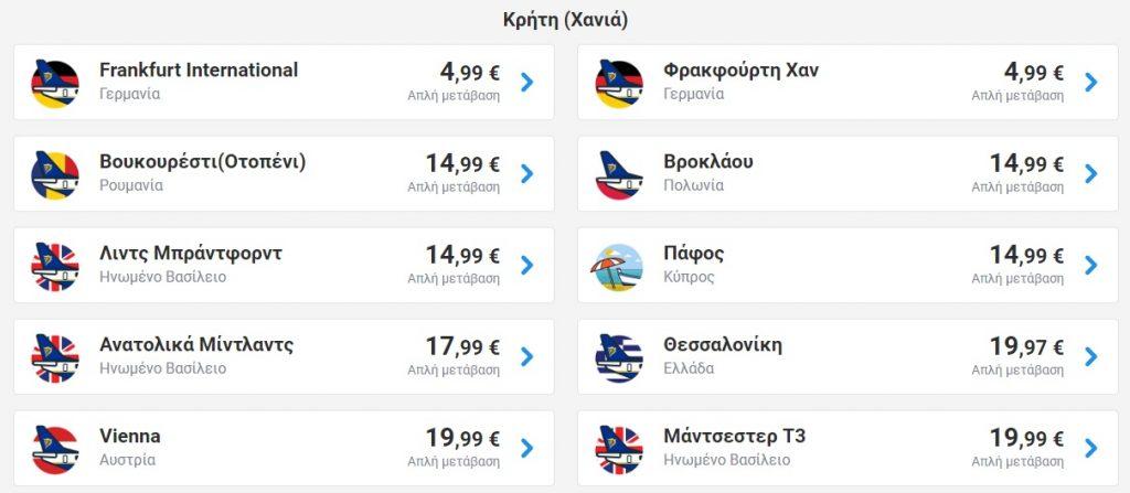 Πτήσεις από 4,99€ με τη Ryanair