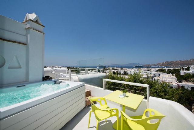 Superior double sea view spa room, Semeli Hotel, Μύκονος