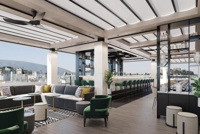 Academia of Athens rooftop bar