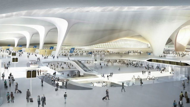 Νέο αεροδρόμιο Πεκίνου - εσωτερικό