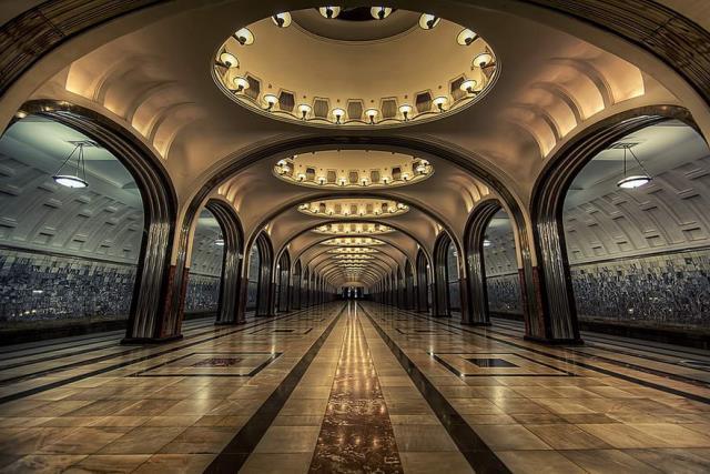 Kievskaya, Mayakovskaya And Park Pobedy Stations, Μόσχα, Ρωσία
