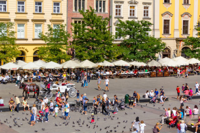 Πλατεία στην Κρακοβία