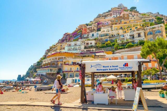 Positano Beach, Αμάλφι, Ιταλία
