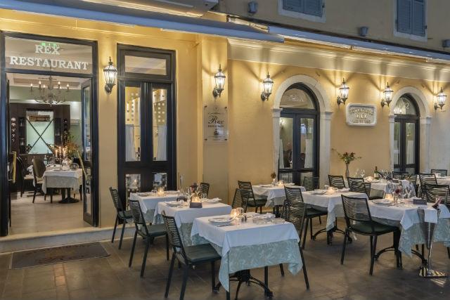 Rex εστιατόριο, Κέρκυρα - εξωτερικό μέρος
