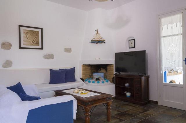 Seaside διαμέρισμα στην Πάρο σαλόνι