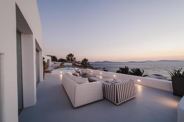 Seawest Villa Mykonos βεράντα με θέα