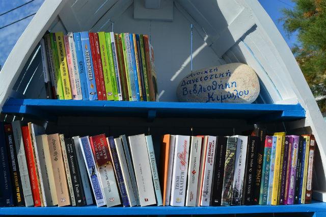 Βάρκες - βιβλιοθήκες, Κίμωλος