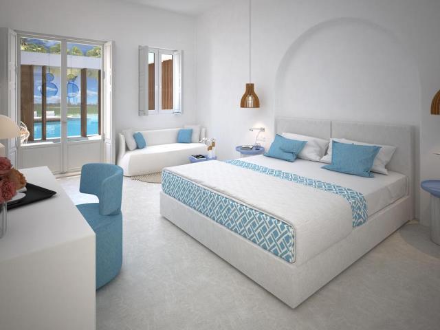 Sensimar Meltemi Blu - δωμάτιο δίπλα στην πισίνα
