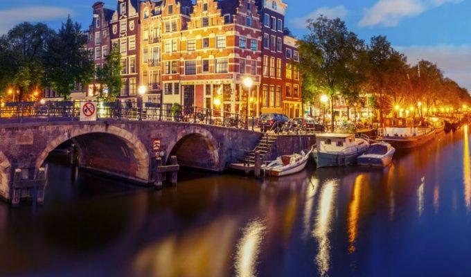 Άμστερνταμ by night, Ολλανδία -