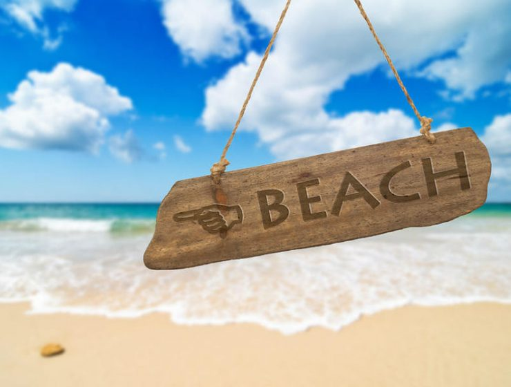 Παραλία - πινακίδα