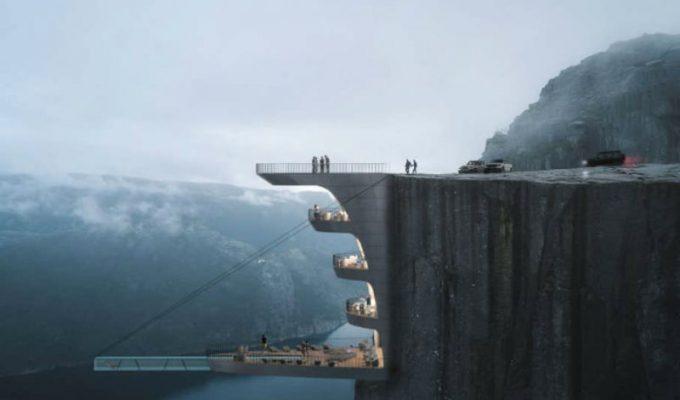 Αυτό το ξενοδοχείο κρέμεται πάνω από ένα γκρεμό!