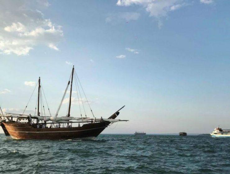 Τραβάει τα βλέμματα το μοναδικό ιστιοπλοϊκό σκάφος από το Κατάρ έδεσε στη Θεσσαλονίκη