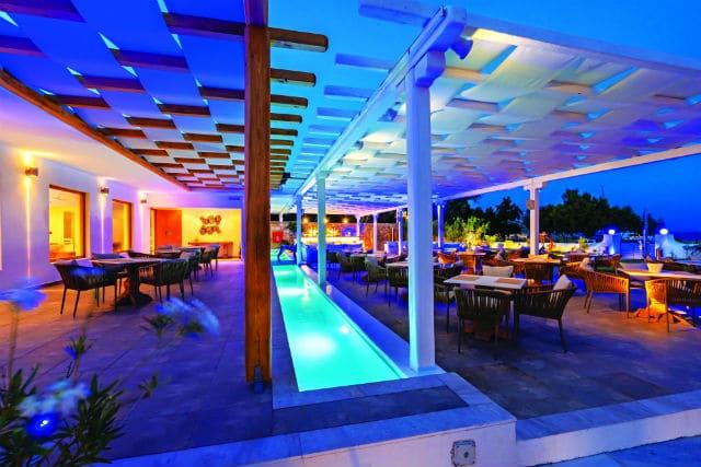 Blue - Fusion Art bar restaurant, Aphrodite Beach Resort Mykonos