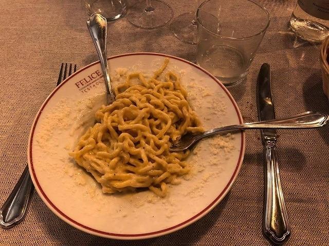 Πιάτο από το Felice a Testaccio