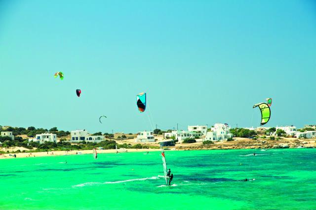 kite και wind surf Νάξος