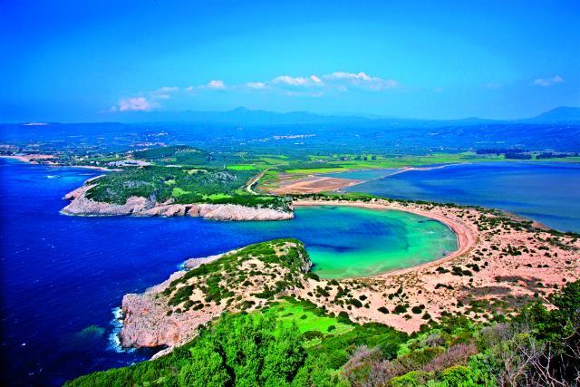 Βοϊδοκοιλιά, παραλίες Μεσσηνία