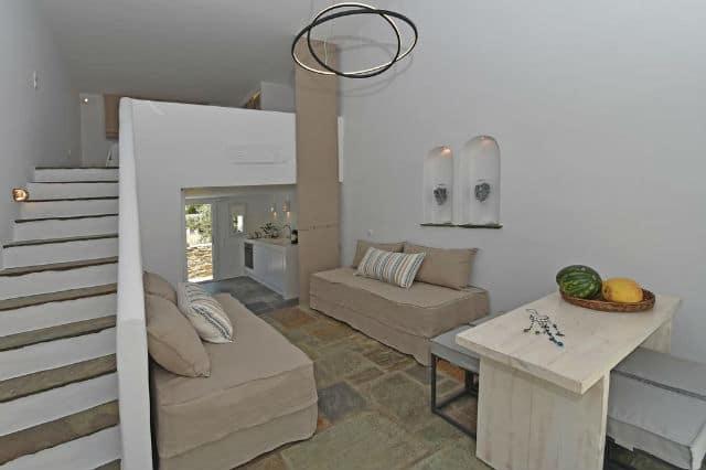 Tinos Blend Suites καθιστικό