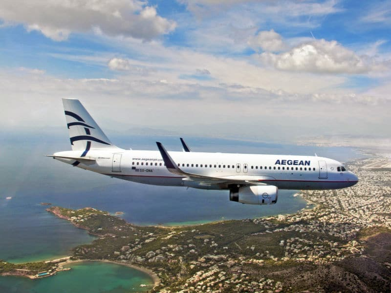 Aegean Airlines - αεροσκάφος