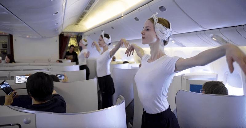 Air France μπαλέτο σε πτήση