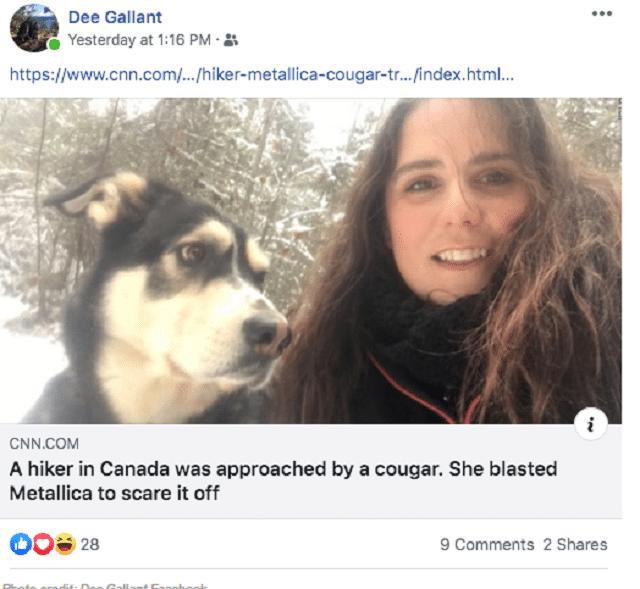 Dee Gasllant και ο σκύλος της
