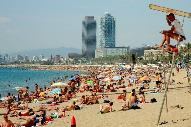Σαν Σεμπαστιάν, Δημοφιλής παραλία Βαρκελώνης