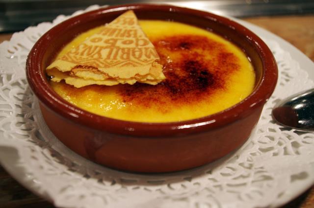 Crema Catalana - φαγητό Βαρκελώνη