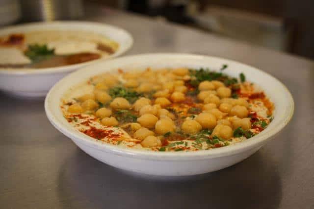 Χούμους - street food Τελ Αβίβ