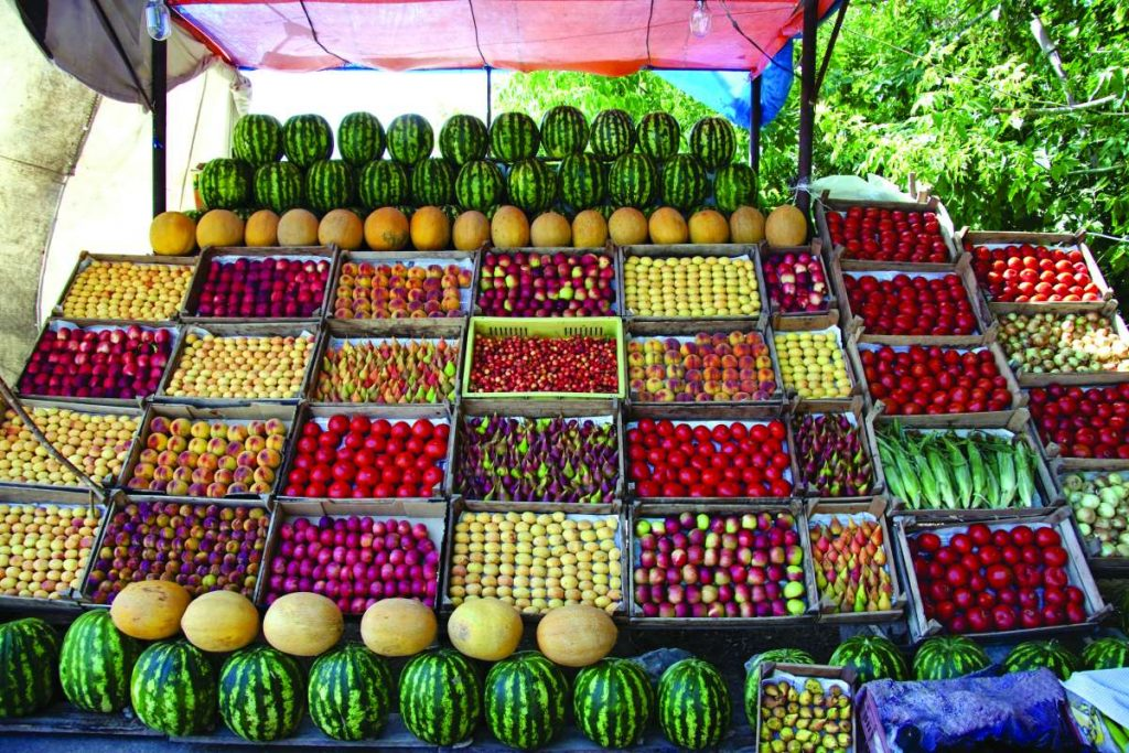Φρούτα και λαχανικά, Αρμενία
