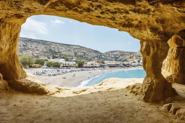 Μάταλα - παραλία Κρήτη