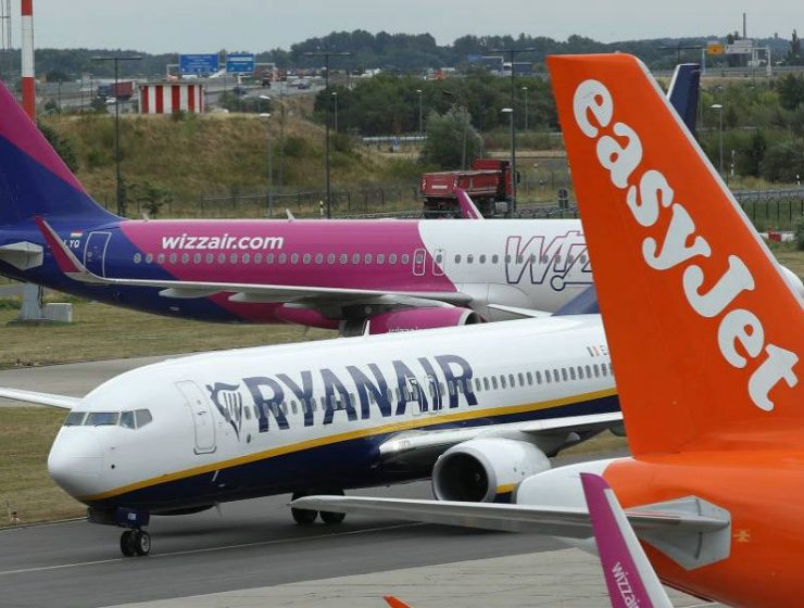 ryanair, easyjet, wizz air αεροσκάφη