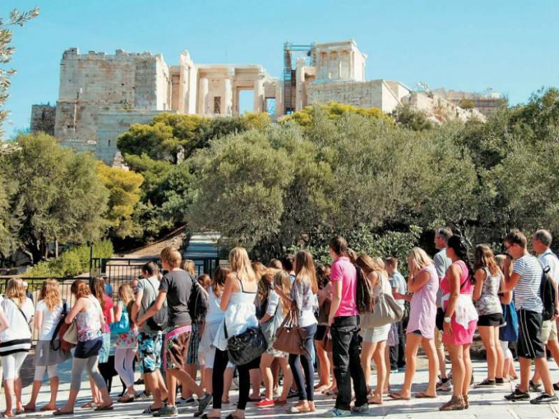 τουρίστες Ελλάδα