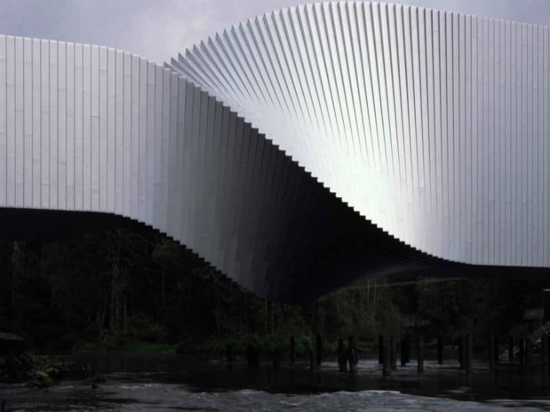 """Κι όμως υπάρχει! Γκαλερί τέχνης στη Νορβηγία """"κρέμεται"""" σε δύο ποτάμια!"""
