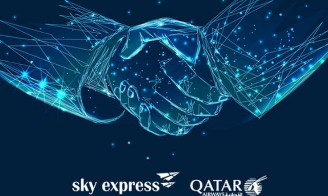 Sky Express, Qatar Airways συνεργασία