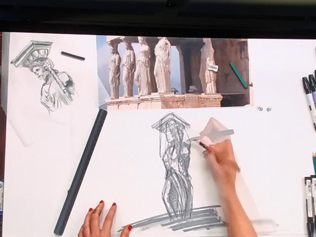 Ελληνικό σχέδια Mohegan - Καρυάτιδες