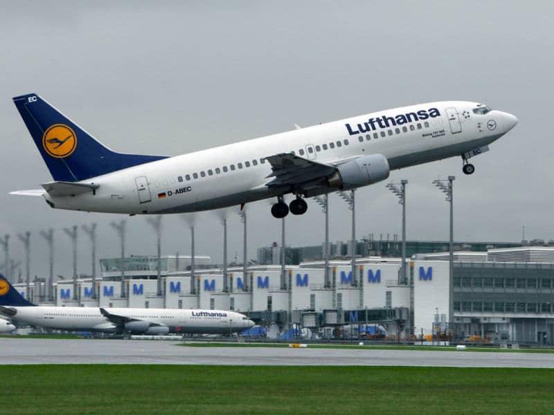 Lufthansa απογείωση αεροπλάνου