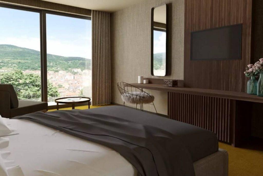 lynx mountain resort Φλώρινα - δωμάτιο