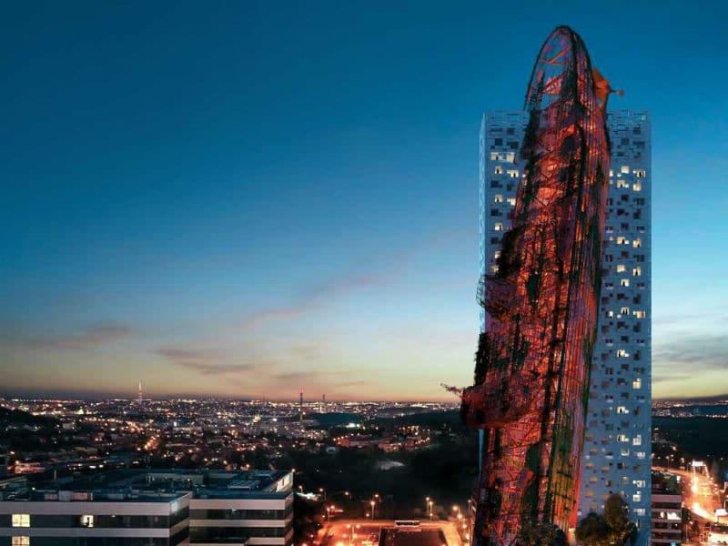 Ο νέος εντυπωσιακός πύργος – ναυάγιο στην Πράγα! Θα είναι το ψηλότερο κτίριο στην Τσεχία;
