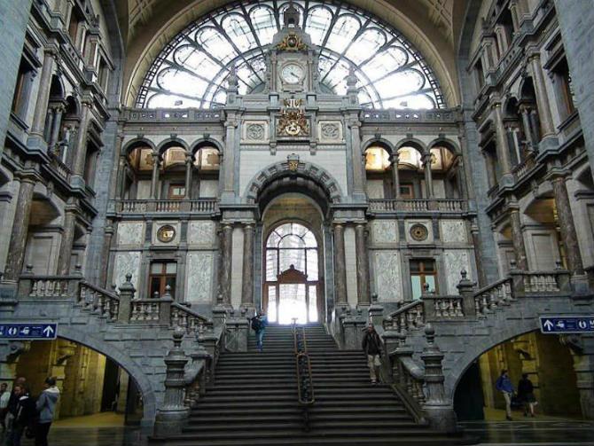 Σιδηροδρομικός Σταθμός Antwerpen-Centraal