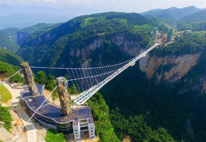 γυάλινες γέφυρες, Κίνα