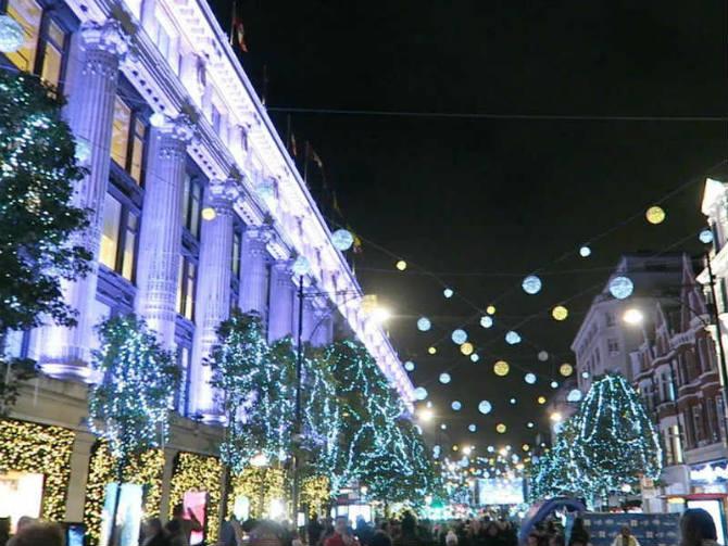 Oxford Street Λονδίνο Χριστούγεννα
