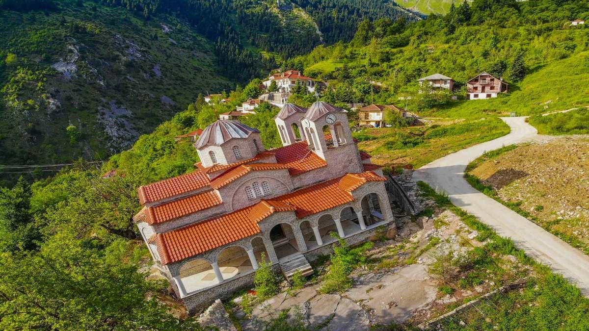 Ροπωτό χωριό τρίκαλα κατολίσθηση εκκλησία χωριό φάντασμα