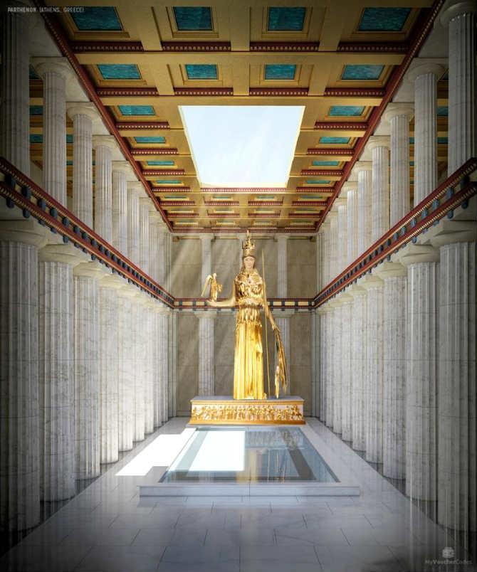Παρθενώνας, Άγαλμα της Αθηνάς