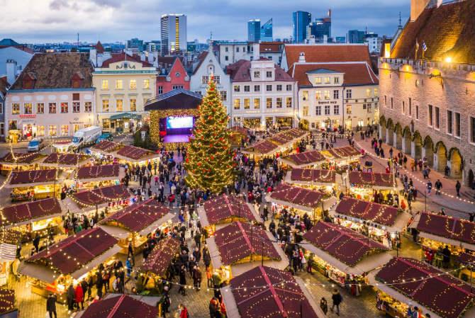 Ταλίν, Εσθονία Χριστουγεννιάτικη αγορά
